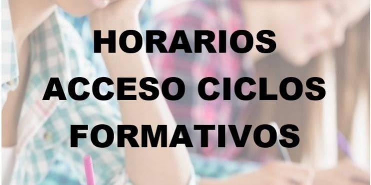 Horarios Prueba Acceso A Ciclos Formativos Academia Ados