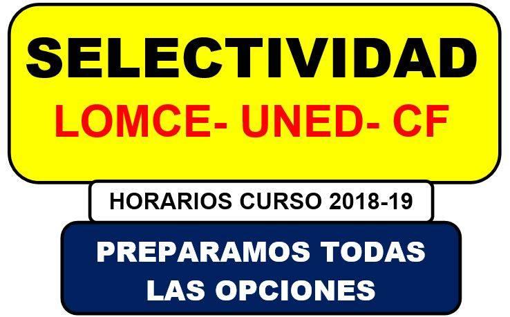 academia para preparar selectividad en Valencia - lomce y uned