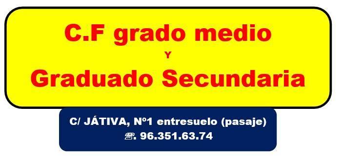 preparacion de prueba de acceso a ciclos formativos en Valencia - grado medio
