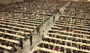 oposiciones a profesorado en Valencia - sala llena